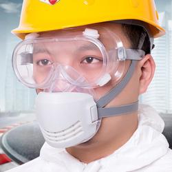 硅胶防尘口罩工业粉尘透气打磨装修活性炭面具煤矿头戴式劳保面罩