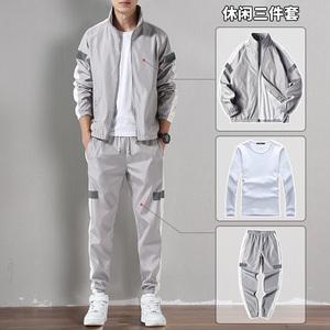 卫衣套装男春秋季运动套装2020新款潮搭休闲装外套男秋装两三件套