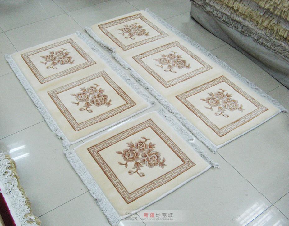 新疆天山纯羊毛地毯 家居组合沙发汽车办公坐垫 柔软舒适手工提花