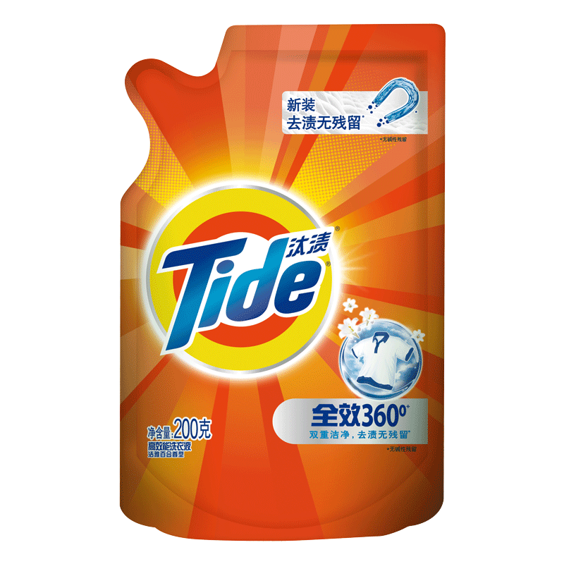 汰�n洗衣液全效360度��雅百合香氛200g去�n洗衣液