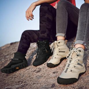 户外东北雪地靴女冬防水防滑保暖滑雪鞋大码棉鞋高帮旅游登山鞋男