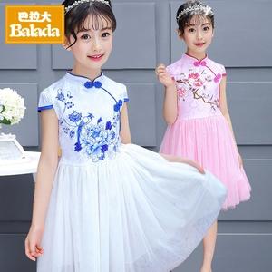 女大童今年新款连衣裙9韩版旗袍12公主裙8女孩子夏装十岁