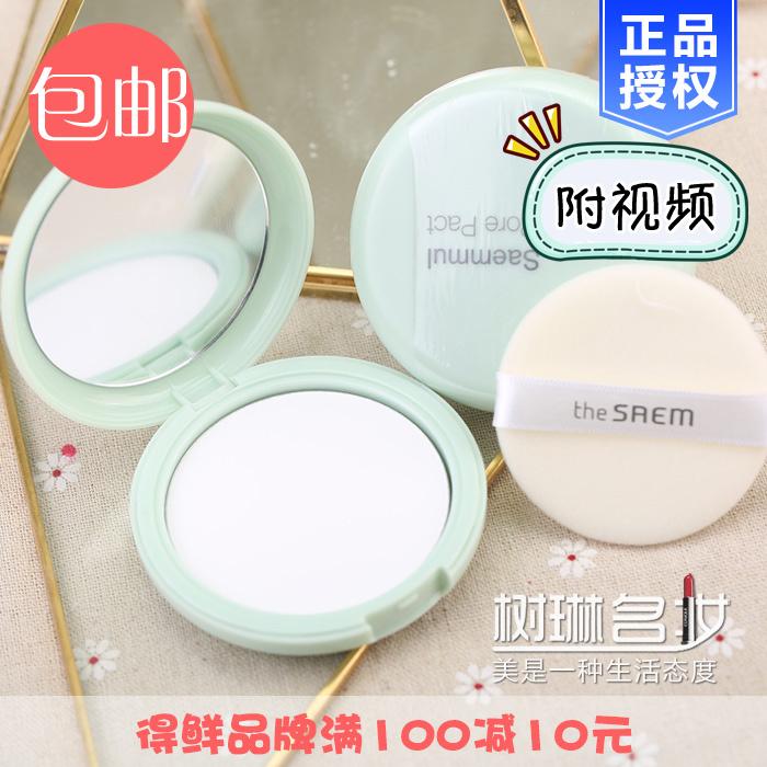 Корея получить свежий the saem порошок укрыватель продолжительный контроля уровня масла мята фиксированный макияж проясняться освежающий прозрачный сухой пирог