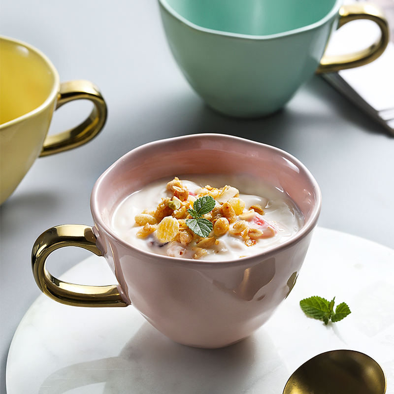 (用39.2元券)ins风家用陶瓷北欧风麦片咖啡杯