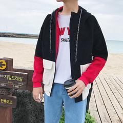 2018春季港风 一件宽松纯棉水洗灯芯绒连帽夹克 JK680 不低于88元