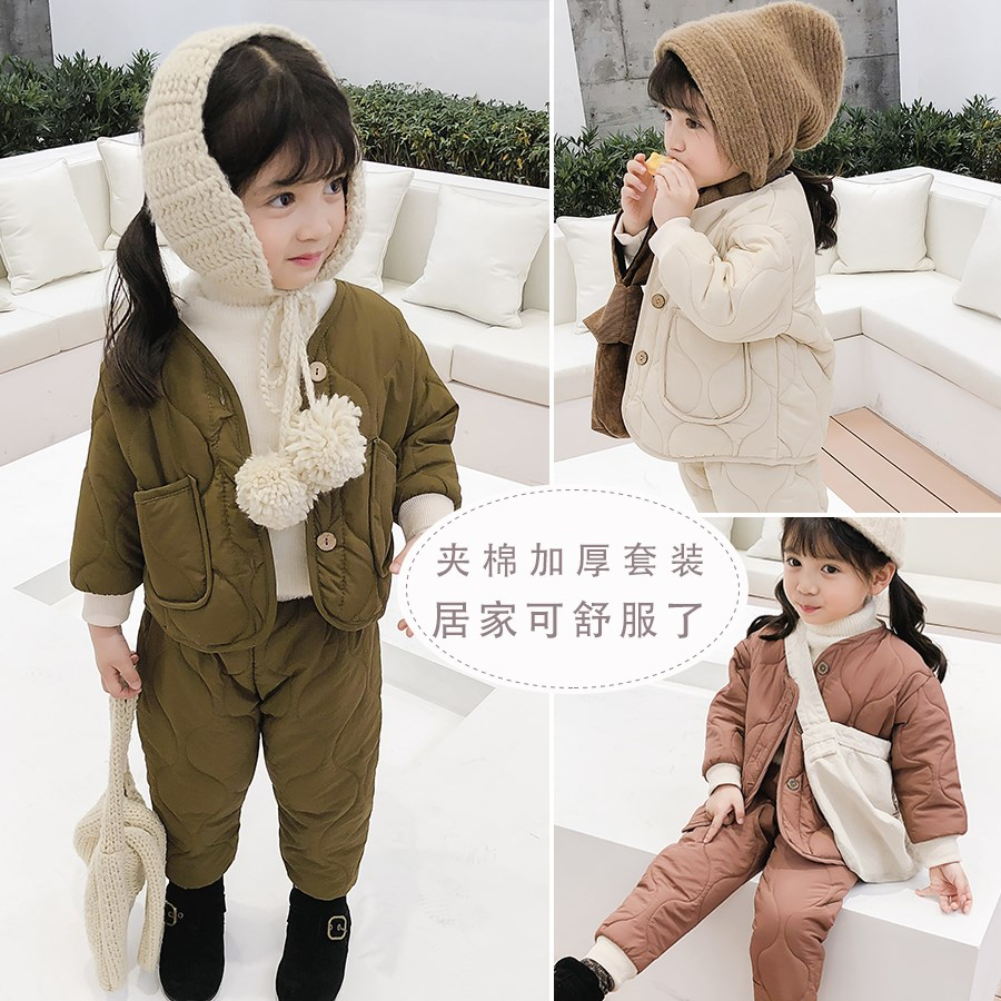 特舒服 轻盈保暖1万种穿法和场合 冬装新款蓬松羽绒棉外套+休闲裤