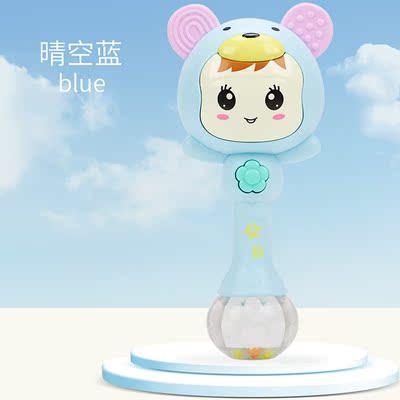 婴儿灯光3-6-9月多功能带音乐宝宝牙胶摇铃沙锤灯光玩具中彤玩具