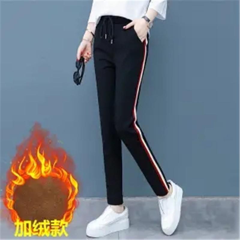 2020春夏运动裤女装宽松显瘦长裤直筒女裤子打底裤黑色休闲裤高腰