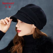 Kamon autumn Winter Fedora Korean version of Bud Hat day Inverness warm hundred face wool beret