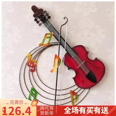 Baoyou Tieyi home decoration creative wall decoration violin retro Bar Cafe music wall decoration