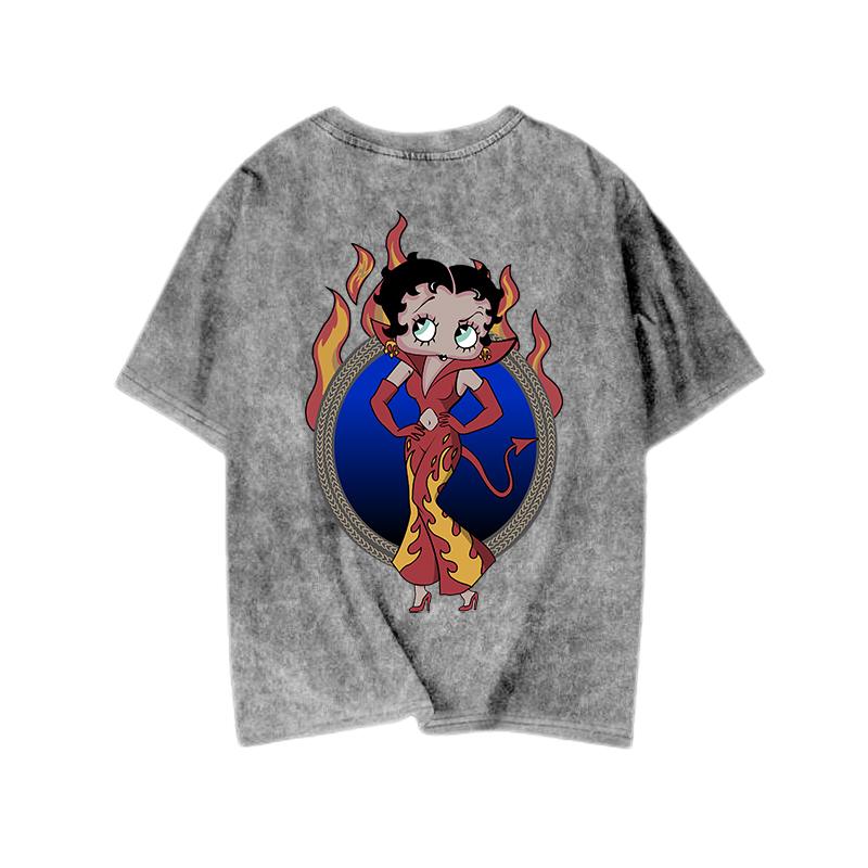 新款大码女装天使与恶魔贝蒂夏t恤评价好不好