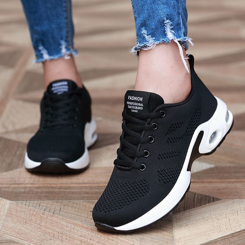 Huili womens shoes spring and autumn light casual shoes middle school students running shoes flat bottom anti slip fashion versatile sports shoes womens shoes