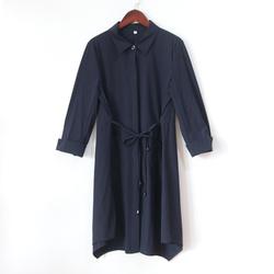 春梦依人C193313W-21系带风衣2020秋装新款韩版时尚宽松大码外套