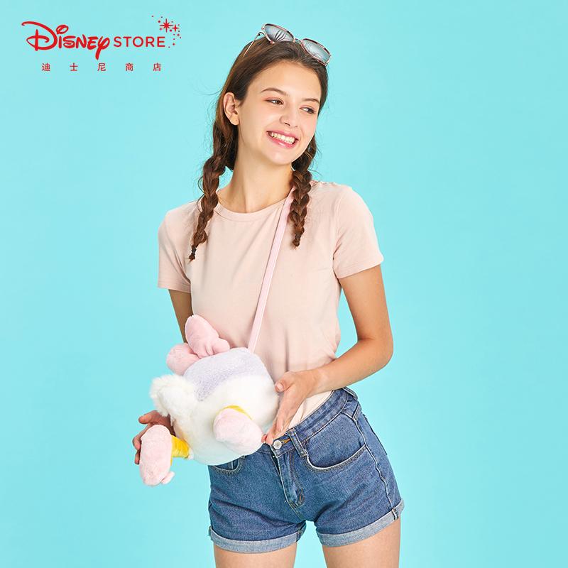 迪士尼时尚 奇奇蒂蒂唐老鸭黛丝扭扭包 毛绒单肩斜跨包女Disney图片
