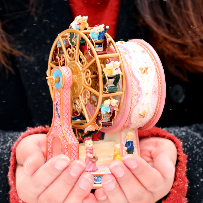 音乐盒八音盒旋转摩天轮情人节女生情侣七夕浪漫创意实用生日礼物