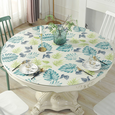 Soft glass PVC color water-proof, oil-proof and scald-proof disposable crystal tablecloth table mat round table cloth crystal version
