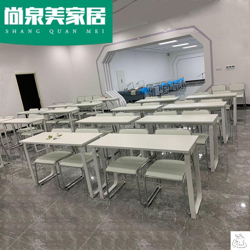 培训桌椅组合双人会议桌补习班中小学生课桌培训班教育机构辅导班
