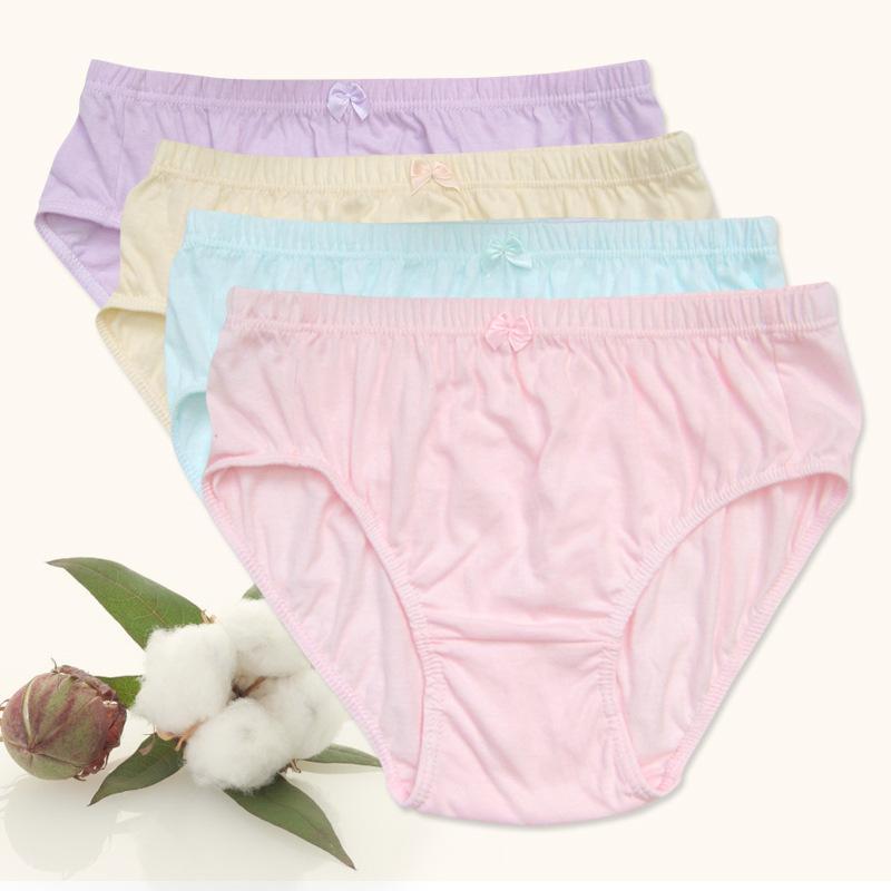 6条纯色女士内裤女中腰100%纯棉中老年短裤三角本命年红裤头妈妈