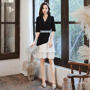 小晚礼服女新款气质短款生日派对气场女王平时可穿连衣裙高端优雅图片
