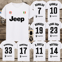 18-19尤文图斯C罗7号短袖纪念T恤球衣足球迷宽松纯棉男女队服夏季