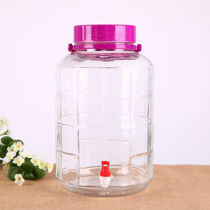 加厚玻璃泡酒瓶带龙头10斤酿酒瓶浸酒坛子酒缸密封罐 Изображение 1