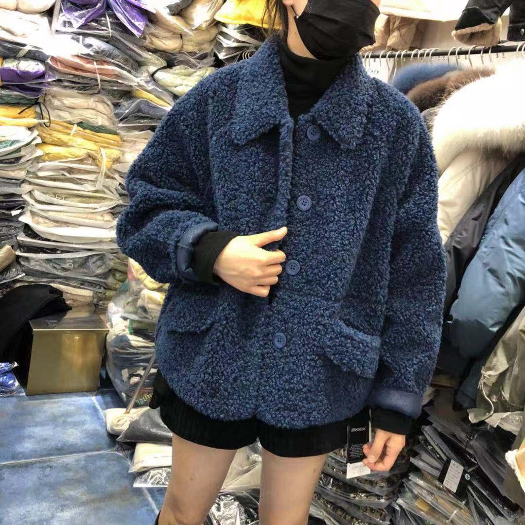 【初冬款大上新】2019初冬款精品羊卷毛皮毛一体 SH2F155-WQL9687