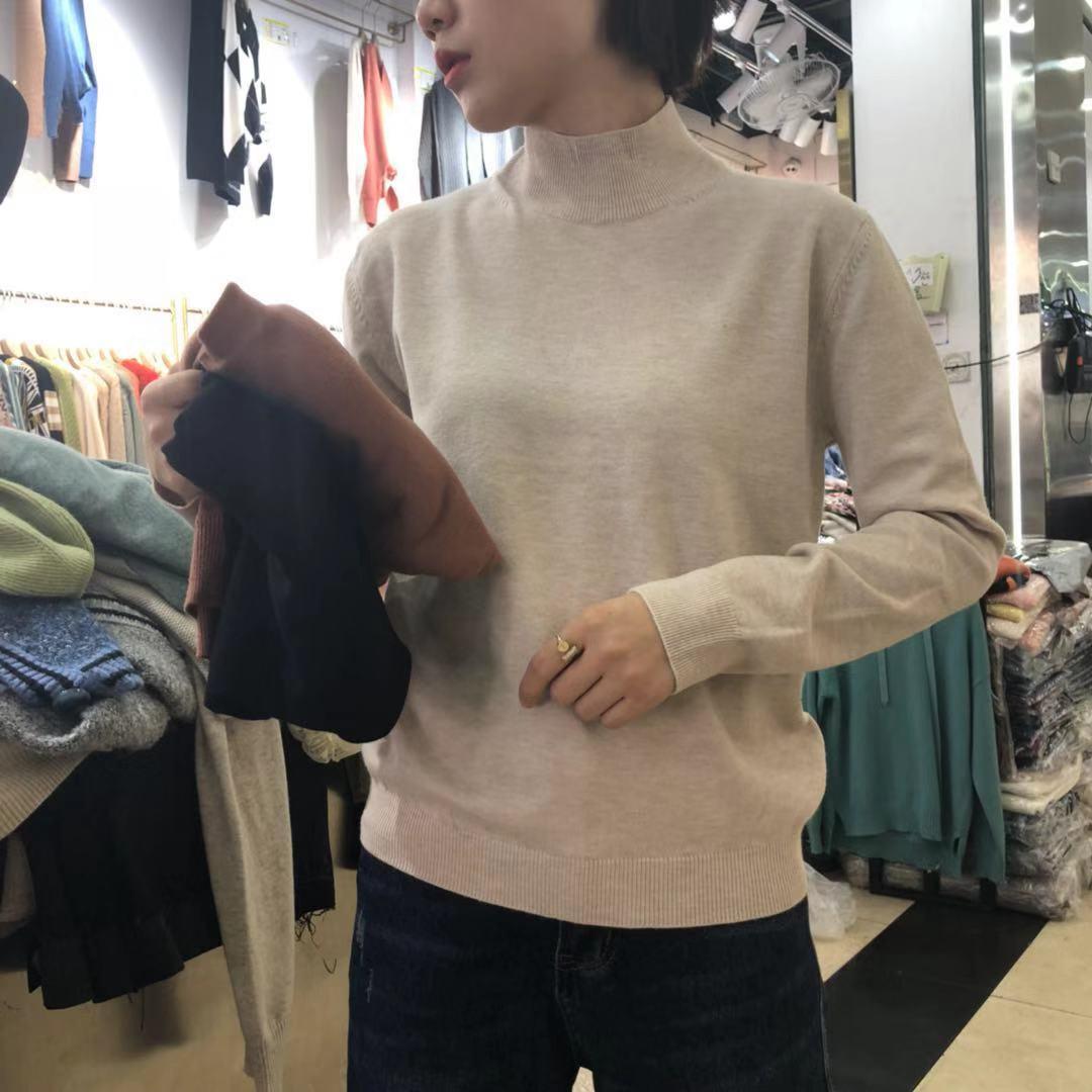 【秋款大上新】2019秋款精品纯色毛衣针织小衫 SH2F136-WQL91366