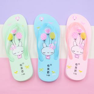 亲子儿童人字拖夏女新款防滑可爱凯蒂猫女童夹脚海边凉拖鞋沙滩鞋