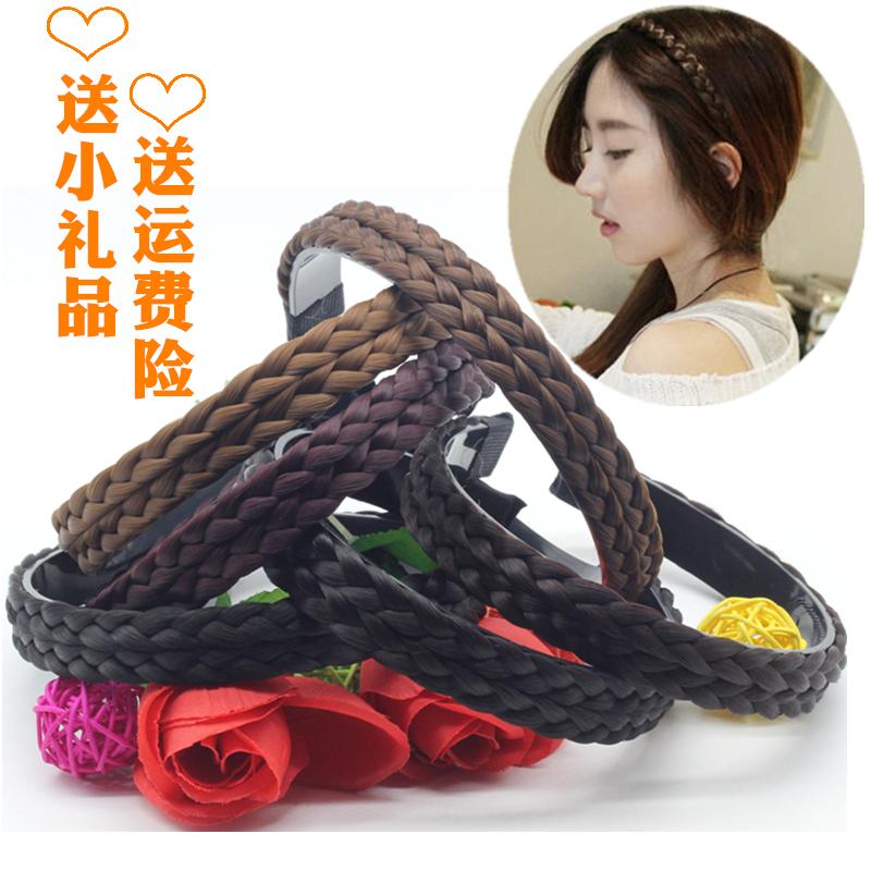 Моллюск корея прекрасный парик женщина заставка корейский ручной витой коса пресс волосы заставка скольжение зубчатый коса выпуск карты