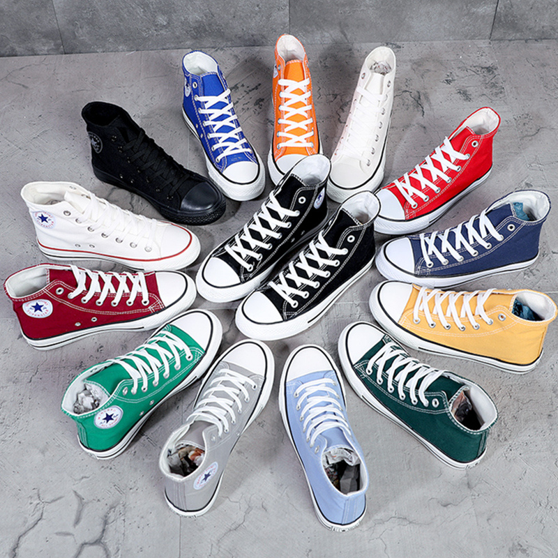 Classic high top canvas shoes mens summer Korean version trendy casual board shoes gaobang couple black personalized ball shoes