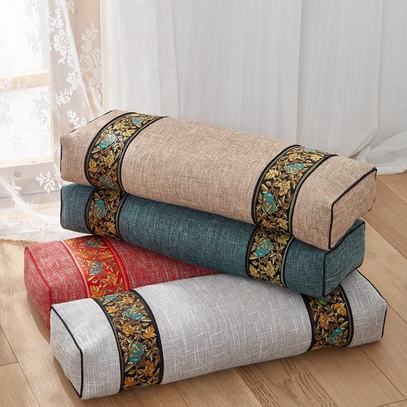 荞麦枕头护颈枕中式复古艾草叶宫廷养生助睡眠护颈椎方枕单人枕芯
