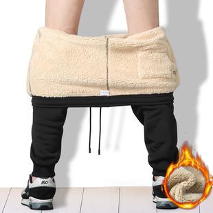 男保暖外穿运动裤 5XL裤 加绒加厚羊羔绒休闲裤 子宽松长裤 女小脚裤