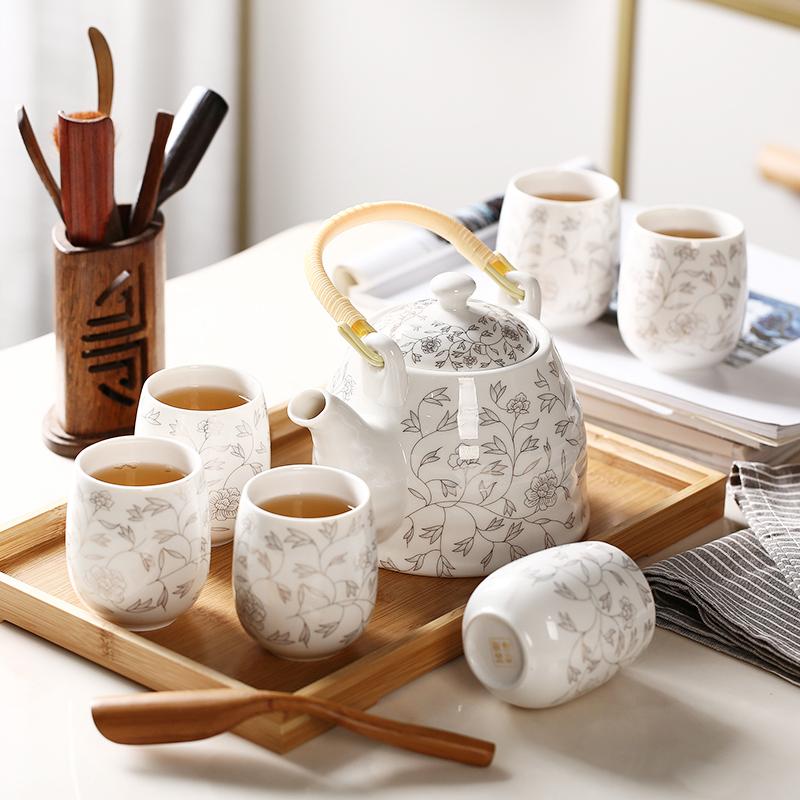 送竹托景德镇陶瓷茶具套装装茶杯子12月02日最新优惠