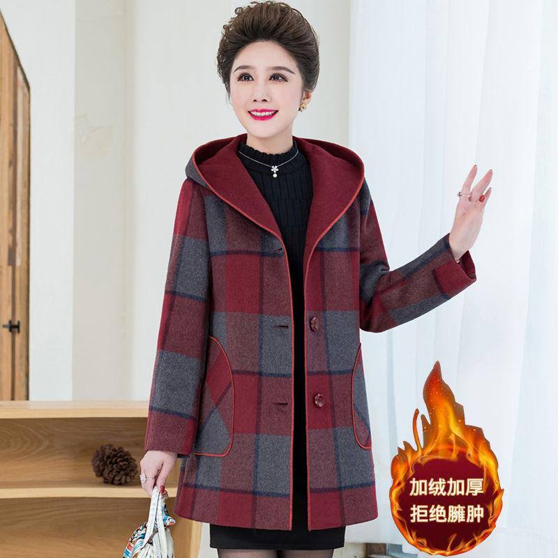 Mid autumn womens mid autumn woolen coat
