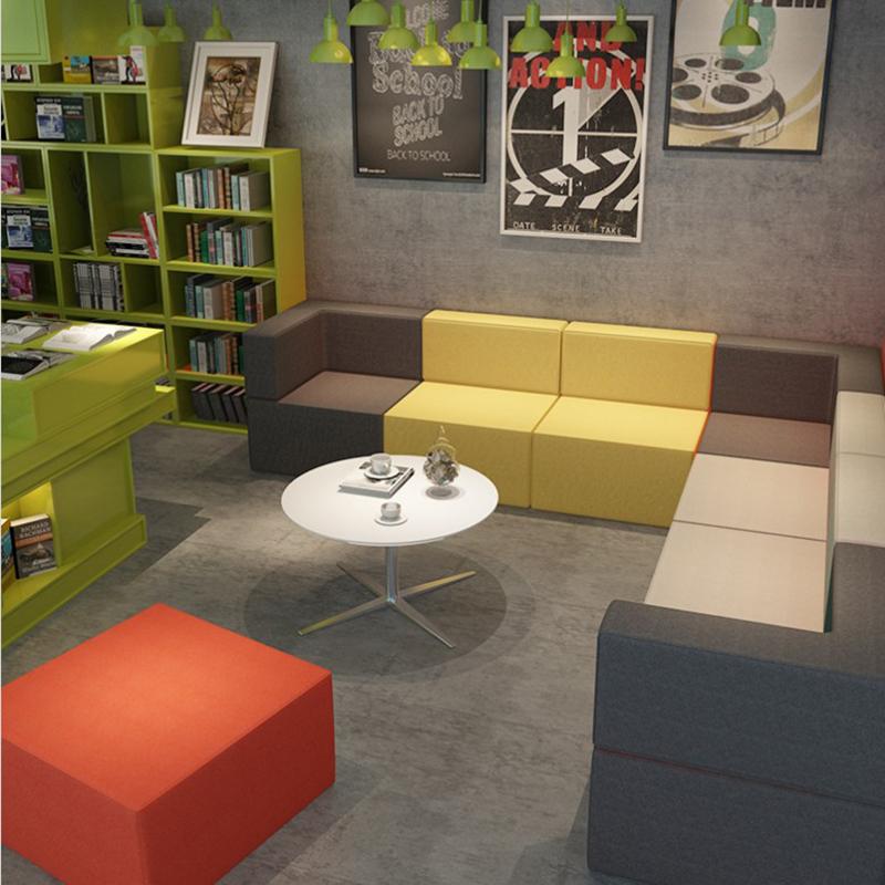 办公室创意沙发简约现代异形培训机构接待会客区休息区酒店沙发