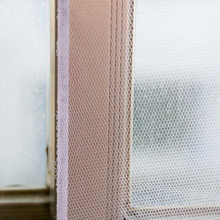新疆包邮隐形纱窗简易自粘型式防蚊网窗户魔术贴非磁性纱网