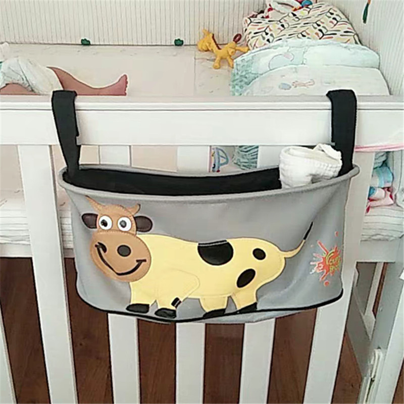初生婴儿床头侧边收纳挂袋 宝宝奶瓶整理挂包 推车配件置物挂篮 Изображение 1
