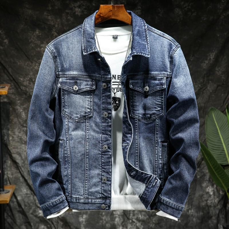 Denim jacket mens slim fashion brand Street handsome denim clothes Korean fashion jacket spring mens top