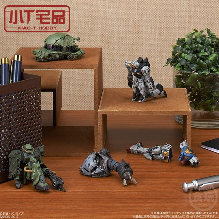 Small t house products Wandai food game war damage scene anti war theme 1 set of 5 finished models
