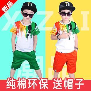 男童绿色环保时装 走秀男孩幼儿园舞蹈潮 男生六一儿童节表演出服装