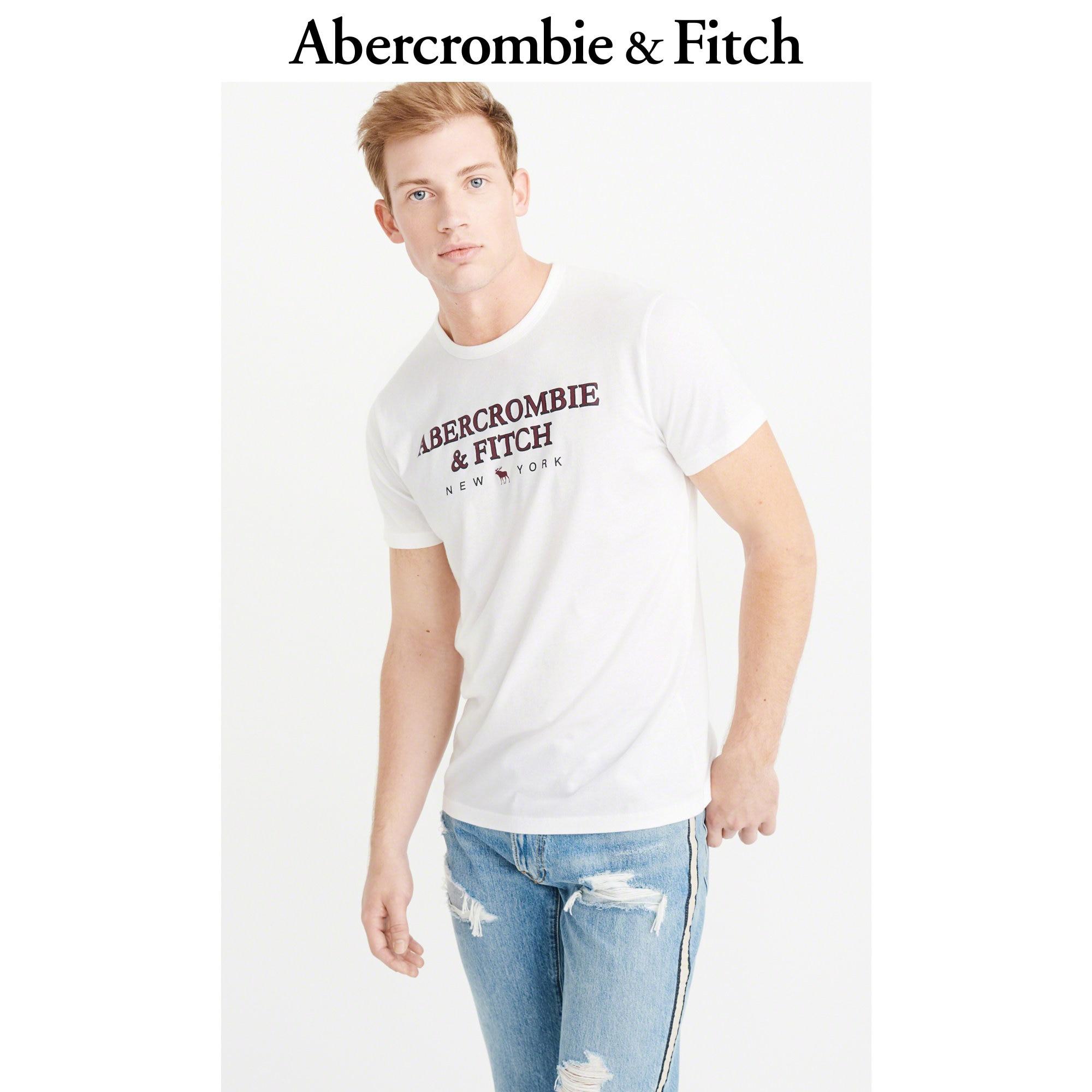 Abercrombie&Fitch男装 短袖 Logo 款 T 恤 227487-1 AF