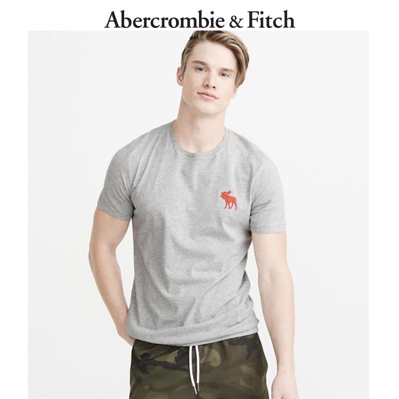 Abercrombie&Fitch男装 大标识图样圆领 T 恤 205215 AF