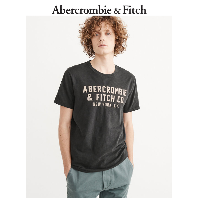 Winter Special Offer Abercrombie & Fitch Men's Logo T-shirt decals 155839 AF