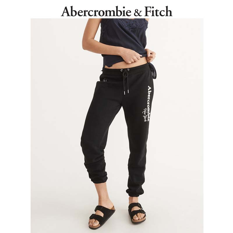 Winter Special Offer Abercrombie & Fitch Classic Logo Women's sports pants 162240 AF