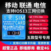 超雪卡贴DB苹果iPhone XR/XS Max卡贴日版美版港三网电信移动联通VOLD告别GPP卡贴Double黑编辑ICCID解IOS13