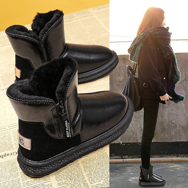 雪地靴女2020年新款加绒加厚中筒防水防滑皮毛一体冬季保暖棉鞋靴