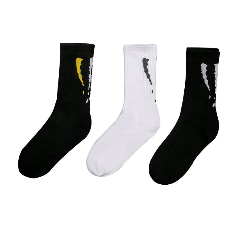 男长袜子潮流中筒袜日系长筒袜男潮牌街头欧美嘻哈滑板运动袜秋季