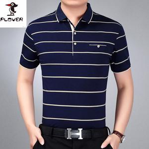 啄木鸟中年爸爸装短袖t恤男40-50岁中老年人青年棉衣服夏装薄体恤