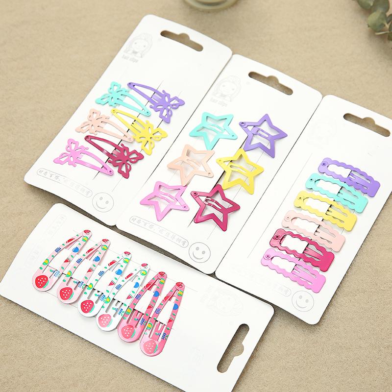 10月17日最新优惠韩国五角星小清新夹子可爱糖果色发夹边夹刘海夹爱心儿童小发夹