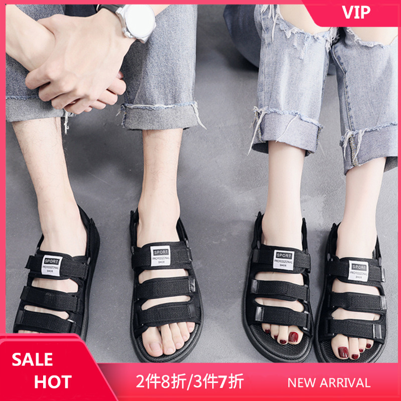 2020 new sandals mens and womens sandals SANDALS BEACH SHOES Hong Kong Style Roman trend comfortable casual versatile couple shoes